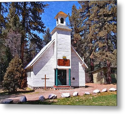 Chapel On The Mountain Metal Print by Glenn McCarthy Art and Photography
