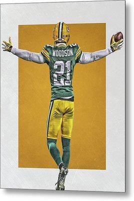 Charles Woodson Green Bay Packers Art 2 Metal Print by Joe Hamilton