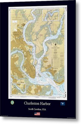 Charleston Harbor Metal Print by Adelaide Images