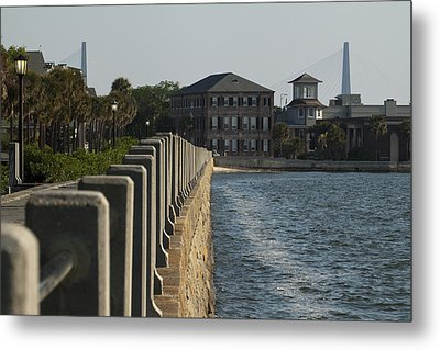 Charleston South Carolina Waterfront Battery Metal Print by Dustin K Ryan