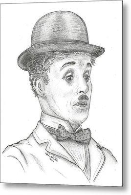 Charlie Chaplin Metal Print by Steven White