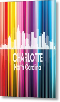 Charlotte Nc 2 Vertical Metal Print by Angelina Vick