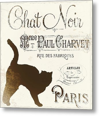 Chat Noir Paris Metal Print by Mindy Sommers
