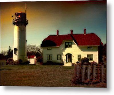 Chatham Lighhouse Metal Print by Gina Cormier