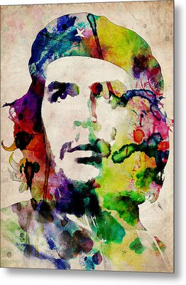 Che Guevara Urban Watercolor Metal Print by Michael Tompsett