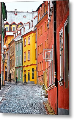 Cheb An Old-world-charm Czech Republic Town Metal Print by Christine Till