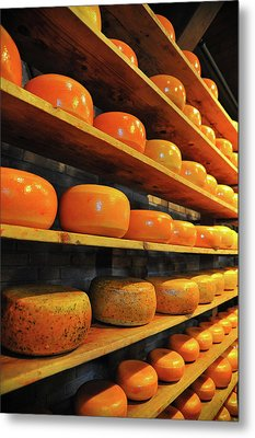 Cheese In Holland Metal Print by Harry Spitz