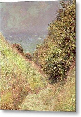 Chemin De La Cavee Pourville Metal Print by Claude Monet