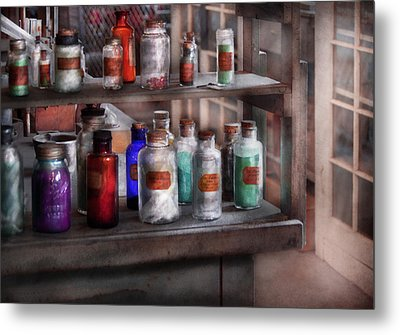 Chemistry - Ready To Experiment  Metal Print by Mike Savad