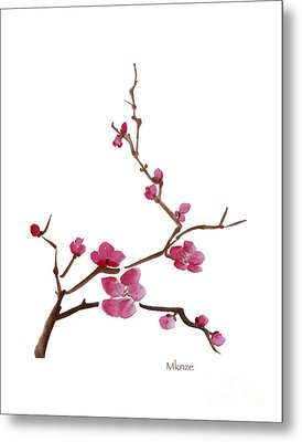 Cherry Blossoms 1 Metal Print by McKenzie Leopold