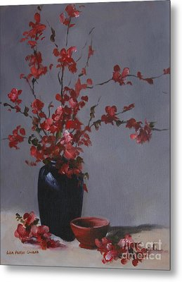Cherry Blossoms Metal Print by Lisa Phillips Owens