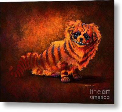 Cheshire Canine Metal Print by Stanley Morrison