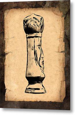 Chess King Metal Print by Tom Mc Nemar