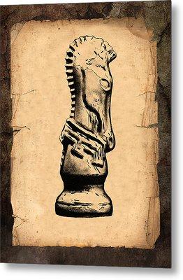 Chess Knight Metal Print by Tom Mc Nemar