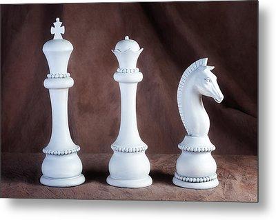 Chessmen V Metal Print by Tom Mc Nemar