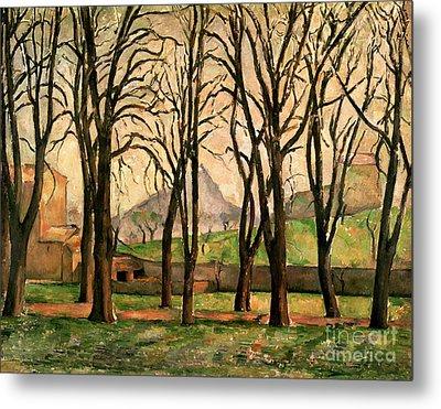 Chestnut Trees At The Jas De Bouffan Metal Print by Paul Cezanne