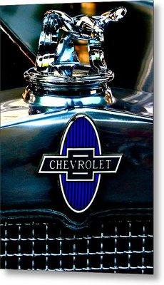 Chevrolet Hoodie Metal Print by Gwyn Newcombe