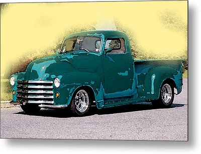 Chevy Azure Metal Print by Gertrude Palmer