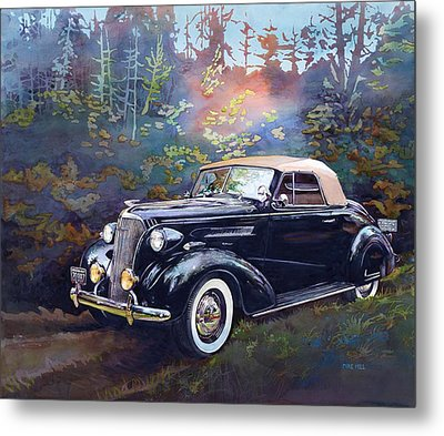Chevy In The Woods Metal Print by Mike Hill