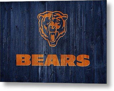 Chicago Bears Barn Door Metal Print by Dan Sproul