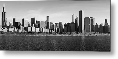 Chicago Black And White Metal Print by Donald Schwartz