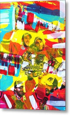 Chicago Blackhawks 2015 Champions Metal Print by Elliott From