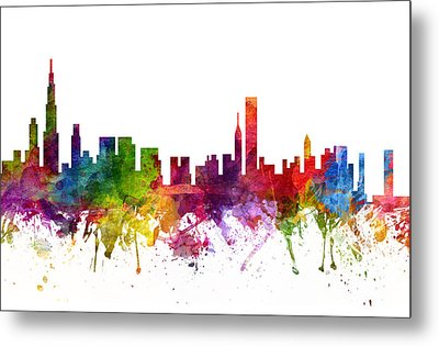 Chicago Cityscape 06 Metal Print by Aged Pixel