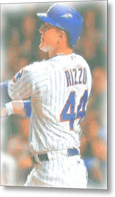 Chicago Cubs Anthony Rizzo 2 Metal Print by Joe Hamilton