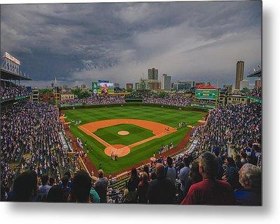 Chicago Cubs Wrigley Field 4 8213 Metal Print by David Haskett