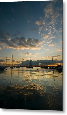 Chicago Harbor Sunrise Metal Print by Steve Gadomski