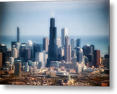 Chicago Looking East 02 Metal Print by Thomas Woolworth