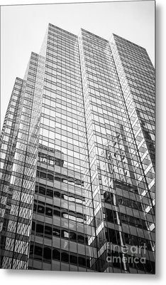 Chicago Office Building  Black And White Photo Metal Print by Paul Velgos