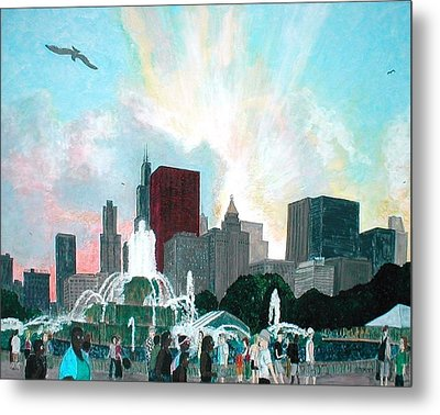 Chicago On The Fourth Metal Print by Jacob Stempky