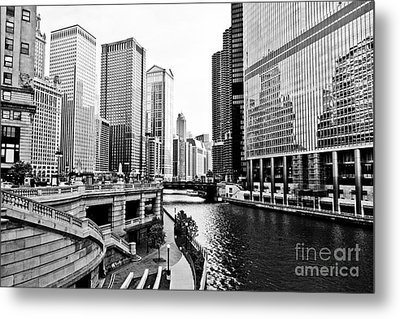 Chicago River Buildings Architecture Metal Print by Paul Velgos