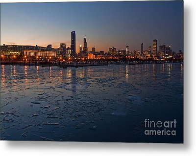 Chicago Skyline At Dusk Metal Print by Sven Brogren