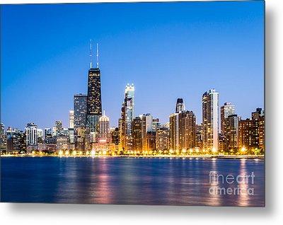 Chicago Skyline At Twilight Metal Print by Paul Velgos