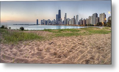 Chicago Skyline From North Beach Metal Print by Twenty Two North Photography