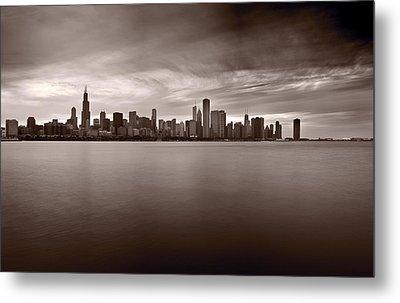 Chicago Storm Metal Print by Steve Gadomski