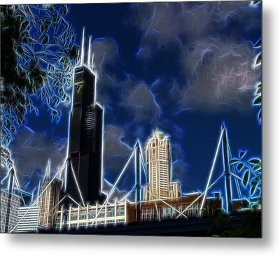 Chicago's Sears Tower Metal Print by Chris Flees