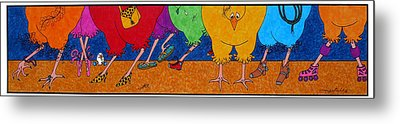Chicken Walk Metal Print by Michele Sleight