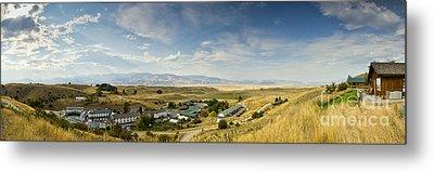 Chico Hot Springs Pray Montana Panoramic Metal Print by Dustin K Ryan
