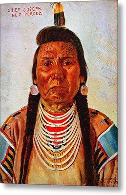 Chief Joseph, Nez Perc� Chief Metal Print by Everett