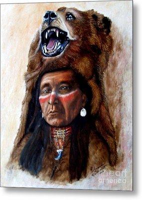 Chief Running Bear Metal Print by Amanda Hukill