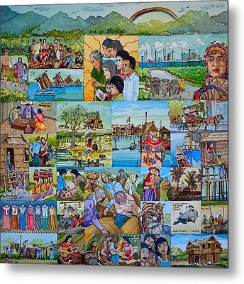 Childhood Memories Of My Mother Country Pilipinas Metal Print by Andre Salvador