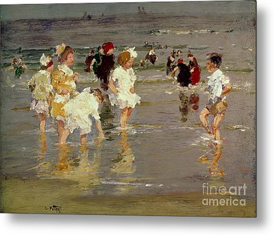 Children On The Beach Metal Print by Edward Henry Potthast