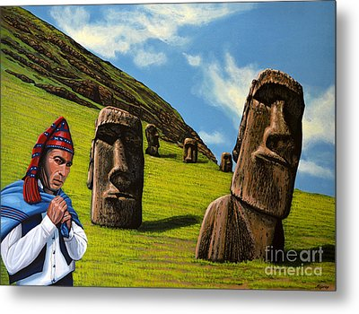 Chile Easter Island Metal Print by Paul Meijering