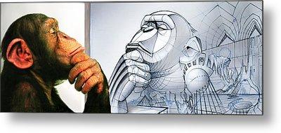 Chimps Don't Draw Metal Print by Nicholas Bockelman