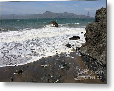 China Beach With Outgoing Wave Metal Print by Carol Groenen