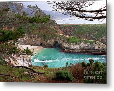 China Cove At Point Lobos Metal Print by Charlene Mitchell