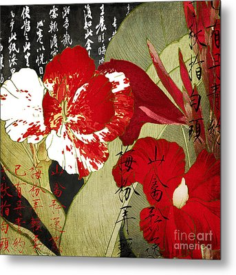 China Red Canna Metal Print by Mindy Sommers